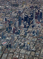 aerial photograph of downtown Los Angeles, California