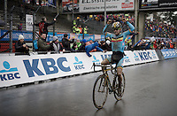 Eli Iserbyt (BEL) is the new U23 World Champion<br /> <br /> U23 men's race<br /> <br /> UCI 2016 cyclocross World Championships / Zolder, Belgium