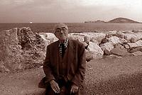 Formia, Italy, 1999. Vittorio Foa, Italian, journalist, politician and writer.