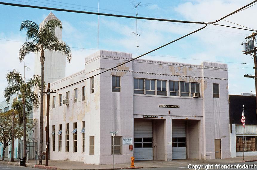 San Diego: Engine Co. No. 4. Corner of 8th & J St.