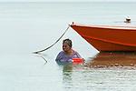 Fishing in Funafuti, Tuvalu