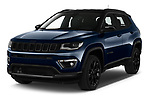 2021 JEEP Compass S 5 Door SUV Angular Front automotive stock photos of front three quarter view