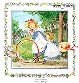 Ingrid, CHILDREN, KINDER, NIÑOS, paintings+++++,USISRW01S,#K# ,vintage