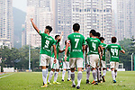 Chun Sing Yuen of Wofoo Tai Po celebrating his score with his teammates during the week three Premier League match between BC Rangers and Wofoo Tai Po at Sham Shui Po Sports Ground on September 17, 2017 in Hong Kong, China. Photo by Marcio Rodrigo Machado / Power Sport Images