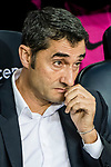 Coach Luis Ernesto Valverde Tejedor of FC Barcelona  looks prior the La Liga 2017-18 match between FC Barcelona and SD Eibar at Camp Nou on 19 September 2017 in Barcelona, Spain. Photo by Vicens Gimenez / Power Sport Images
