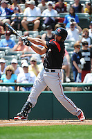 Richmond Flying Squirrels infielder Ricky Oropesa (22) during game against the Trenton Thunder at ARM & HAMMER Park on June 9 2013 in Trenton, NJ.  Trenton defeated Richmond 3-2.  Tomasso DeRosa/Four Seam Images