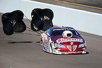 Oct. 15, 2011; Chandler, AZ, USA; NHRA pro stock driver Greg Anderson qualifying at the Arizona Nationals at Firebird International Raceway. Mandatory Credit: Mark J. Rebilas-