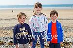 Enjoying a stroll on Banna beach on Saturday, l to r: Einin Lawlor, Emmy and Seanie Dowling.
