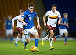 St Johnstone v Motherwell…..12.02.20   McDiarmid Park   SPFL<br />Anthony Ralston pulls clear off Jake Carroll<br />Picture by Graeme Hart.<br />Copyright Perthshire Picture Agency<br />Tel: 01738 623350  Mobile: 07990 594431