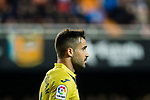 Mario Gaspar Perez Martinez of Villarreal CF reacts during the La Liga 2017-18 match between Valencia CF and Villarreal CF at Estadio de Mestalla on 23 December 2017 in Valencia, Spain. Photo by Maria Jose Segovia Carmona / Power Sport Images