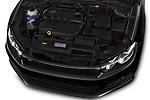 Car stock 2017 Volkswagen Scirocco R Line 5 Door Hatchback engine high angle detail view