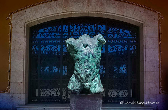 Rodin bronze entitled 'Torse d´homme qui tombe' in the March Palace in Palma de Mallorca, Balearic Islands, Spain.
