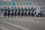 JUL 26,2014:Fed Biz,ridden by Martin Garcia,(saddle number 12)wins the San Diego Handicap at Del Mar in Del Mar,CA. Kazushi Ishida/ESW/CSM