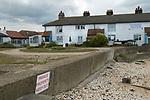 Shellness Private Estate near Leysdown. Isle of Sheppey Kent UK.