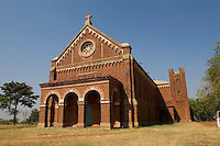 The enormous Catholic cathedral in Loa. Loa is directly in the heart of this rebel conflict and takes on periodical attacks from the Lord's Resistance Army. The war in the region began in 1986 between the LRA and the Ugandan People's Defense Forces (UPDF). The LRA has reigned terror and carnage on Northern Uganda and Southern Sudan ever since. The ongoing war has significantly damaged the region and has left an ongoing burden on the local population. Loa, Magwi County, Sudan, Africa. December 2005 © Stephen Blake Farrington