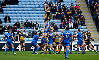 Photo: Richard Lane/Richard Lane Photography. Wasps v Leinster.  European Rugby Champions Cup. 20/01/2019. Wasps' Joe Launchbury wins a lineout.