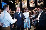 © Joel Goodman - 07973 332324 . 28/03/2015 . Manchester , UK . David Cameron and Samantha Cameron leave the Conservative Party Spring Forum at the Old Granada Studios , Quay Street , Manchester . Photo credit : Joel Goodman