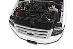Car Stock 2014 Ford Expedition Limited EL 5 Door SUV Engine high angle detail view