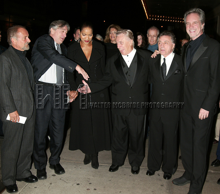 Joe Pesci, Robert Deniro, Grace Hightower, Tommy DeVito, Frankie Valli and Bob Gaudio<br />Attending the Opening Night Celebration for the New Broadway Musical JERSEY BOYS at the August Wilson Theatre in New York City.<br />The Evening is inspired by the the Lives and Musical Journey of Frankie Valli and the Four Seasons.<br />November 6, 2005