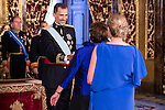 Ambassador of Australia, SRA. Virginia Jane Greville present his credentials to King Felipe VI of Spain during royal audiences at Zarzuela Palace in Madrid, July 27, 2015. <br /> (ALTERPHOTOS/BorjaB.Hojas)