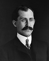 Orville and Wilbur Wright in 1905<br /> <br /> Orville Wright, age 34, head and shoulders, with mustache