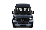 Car photography straight front view of a 2019 Mercedes Benz Sprinter-Tourer Design-Line 4 Door Passanger Van Front View