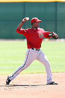Raul Navarro #3 of the Arizona Diamondbacks plays in a minor league spring training game against the Colorado Rockies at the Rockies minor league complex on April 1, 2011  in Scottsdale, Arizona. .Photo by:  Bill Mitchell/Four Seam Images.