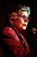 Helen Rodriguez Trias, Puerto Rican pediatrician and public health activist, founder of the Committee to End Sterilization Abuse. first Latina President of the American Public Health Association and winner of the Presidential Medal of Honor speaking at the 25th Anniversary celebration of Our Bodies Ourselves in Boston MA March 8,1996