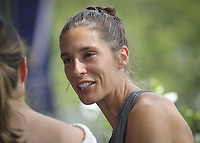 """18th March 2020; Former Top 10 player Andrea Petkovic, of Germany, is following an online book club listed at @racquetbookclub due to the shut-down of live tennis. She stated """"we started an online book club and we will show them all by having fun!"""" The first book they are reading is David Foster Wallace's """"String Theory"""""""