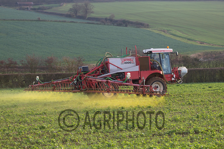 23.11.2020 Spraying Winter wheat in Rutland<br /> ©Tim Scrivener Photographer 07850 303986<br />      ....Covering Agriculture In The UK....