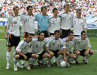 JUNE 9, 2006: Munich, Germany: The German team lines up before the World Cup Finals opening game in Munich, Germany.  Germany defeated Costa Rica, 4-2.