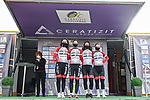 Doltcini–Van Eyck Proximus Continental Team at sign on before the start of Stage 1 of the CERATIZIT Challenge by La Vuelta 2020, running 82.8km from Toledo to Escalona, Spain. 6th November 2020.<br /> Picture: Antonio Baixauli López/BaixauliStudio | Cyclefile<br /> <br /> All photos usage must carry mandatory copyright credit (© Cyclefile | Antonio Baixauli López/BaixauliStudio)