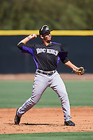 Colorado Rockies Colton Welker (71) during an Instructional League game against the Los Angeles Angels of Anaheim on October 6, 2016 at the Tempe Diablo Stadium Complex in Tempe, Arizona.  (Mike Janes/Four Seam Images)