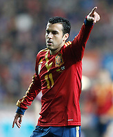 Spain's Pedro Rodriguez during international match of the qualifiers for the FIFA World Cup Brazil 2014.March 22,2013.(ALTERPHOTOS/Acero)