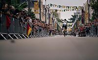The ever popular World Champion Peter Sagan (SVK/Bora-Hansgrohe) at the Team presentation in La Roche-sur-Yon<br /> <br /> Le Grand Départ 2018<br /> 105th Tour de France 2018<br /> ©kramon