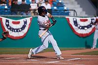 Visalia Rawhide third baseman Jose Caballero (7) during a California League game against the San Jose Giants on April 13, 2019 at San Jose Municipal Stadium in San Jose, California. Visalia defeated San Jose 4-2. (Zachary Lucy/Four Seam Images)