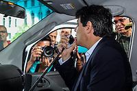 SAO PAULO, SP. 10.12.2014 - PROGRAMA DE PROTEÇÃO AMBIENTAL - O prefeito da cidade de São Paulo, Fernando Haddad lança o programa de proteção ambiental juntamente com a GCM(guarda civil metropolitana)  na manhã desta quarta-feira, (10). (Foto: Renato Mendes/ Brazil Photo Press)