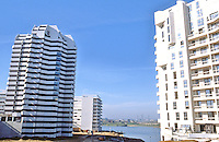 Paris: Creteil--new apartments, artificial lake.