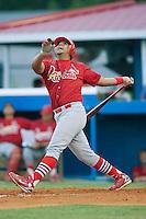 Johnson City first baseman Osvaldo Morales (49) pops up versus Burlington at Burlington Athletic Park in Burlington, NC, Saturday, August 25, 2007.