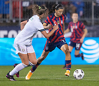 EAST HARTFORD, CT - JULY 1: Tobin Heath #7 of the USWNT dribbles the ball during a game between Mexico and USWNT at Rentschler Field on July 1, 2021 in East Hartford, Connecticut.