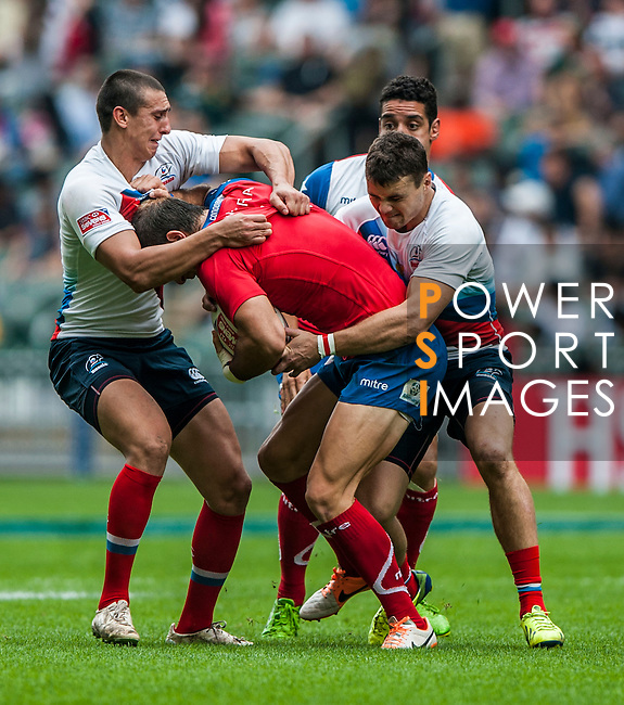 Russia  vs Chile during the Cathay Pacific / HSBC Hong Kong Sevens at the Hong Kong Stadium on 28 March 2014 in Hong Kong, China. Photo by Andy Jones / Power Sport Images