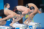 Wales Calum Jarvis in action during the Mens 100m Freestyle Semi-final <br /> <br /> *This image must be credited to Ian Cook Sportingwales and can only be used in conjunction with this event only*<br /> <br /> 21st Commonwealth Games - Swimming - Day 3 - 07\04\2018 - Gold Coast Optus Aquatic centre - Gold Coast City - Australia
