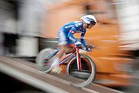 Tom Devriendt (BEL/Wanty-Groupe Gobert) speeding off the start ramp<br /> <br /> stage 1: prologue<br /> Ster ZLM Tour 2015