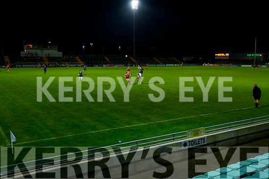 No spectators during the Kerry County Senior Football Championship Semi-Final match between East Kerry and St Brendan's at Austin Stack Park in Tralee, Kerry.