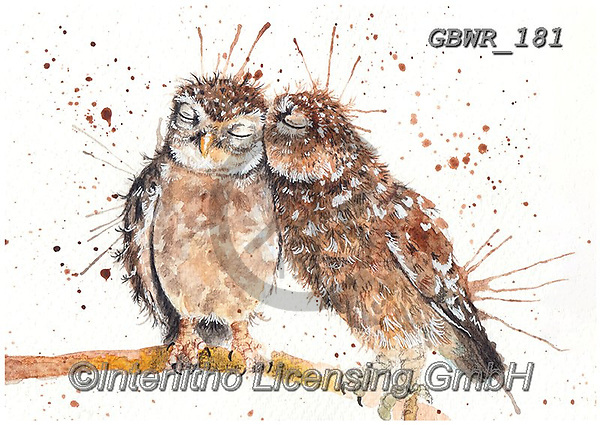Simon, REALISTIC ANIMALS, REALISTISCHE TIERE, ANIMALES REALISTICOS, innovative, paintings+++++KatherineWilliams_SplatterLoveBirds,GBWR181,#a#, EVERYDAY