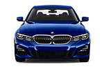 Car photography straight front view of a 2019 BMW 3-Series M-Sport 4 Door Sedan Front View