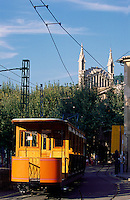 Spanien, Mallorca, Stra?enbahn in Soller