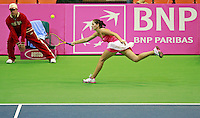 Bojana Jovanovski , Fed Cup Serbia vs Canada, World group II, first round, Novi Sad, Serbia, SPENS Sports Center, Sunday, February 06, 2011. (photo: Srdjan  Stevanovic)(credit image & photo: Pedja Milosavljevic / +381 64 1260 959 / thepedja@gmail.com )