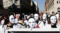 Manifestazione nazionale dei lavoratori precari a Roma, 9 aprile 2011..Unstable workers attend a street parade in Rome, 9 april 2011..UPDATE IMAGES PRESS/Riccardo De Luca