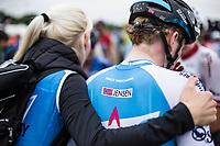 August Jensen (DEN/Israël Cycling Academy) post race.<br /> <br /> 71th Halle Ingooigem 2018 (1.1)<br /> 1 Day Race: Halle > Ingooigem (197.7km)